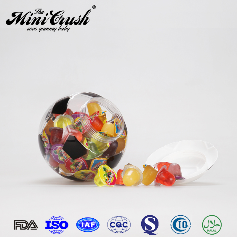 Natural flavored 80pcs assorted coconut agar fruity jelly balls