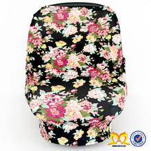 New Design red flower with black background Baby Safety Fancy Car Seat Cover Classic Cotton Car Seat Covers For Baby Car
