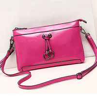 H106 wholesale products cheap real leather lady ring clutch bag