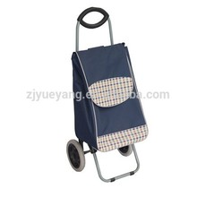 Factory price folding plastic shopping carts with 2 wheels