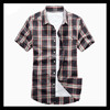 Apparel Factory Wholesale OEM fashion casual plaid silk shirts for men