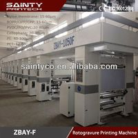 High Performance 8 color speed 180 7motor width 1050 rotogravure printing machine