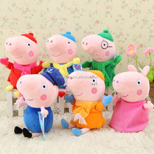Famous Cuddly cute Stuffed plush pig toy soft plush cartoon pig family plush toy animal