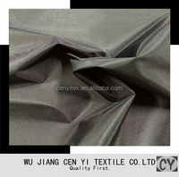 100% polyester pu coated taffeta lining for luggage