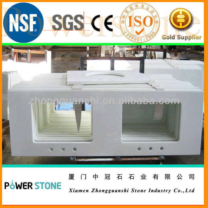 White Nano Crystal Glass Stone Countertop and Slab