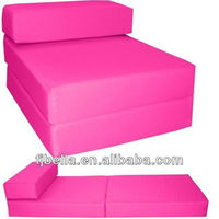 Pink Block Foam Folding Out Relaxing Furniture Chair Z Bed Guest Futon In/Outdoor