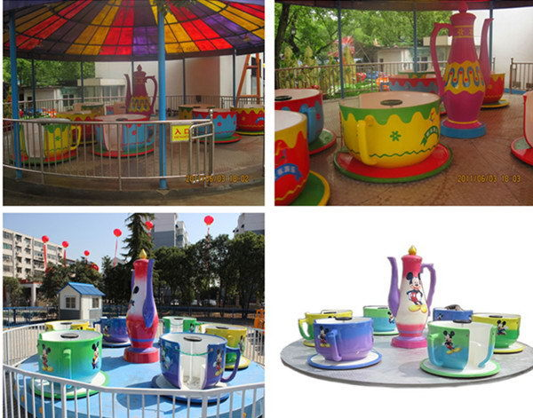 Amusement Rides Coffee Cup Attraction Machine