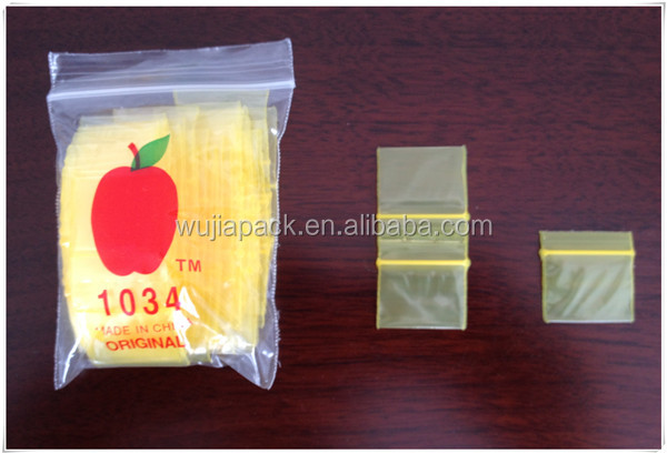 LDPE 1034 color zippermini apple bag
