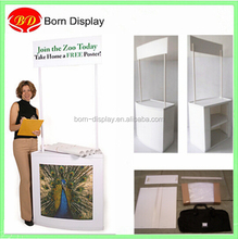 Plastic display counter portable promotion table for sample sales demo stand