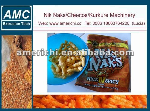 Kukure, nic nacs, cheetos making machine