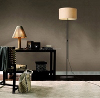 Modern Floor Lamp Metal Floor Lamp Stand With Fabric Shade Hotel Vintage Restaurant Coffee Shop LED Floor Lamp