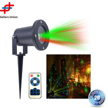 Waterproof Christmas R&G Laser LED Outdoor Projector Landscape Light for Garden Home Party Decoration