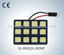 LED Auto Light Dome Lamp No Polarity 12SMD 5050 with CE