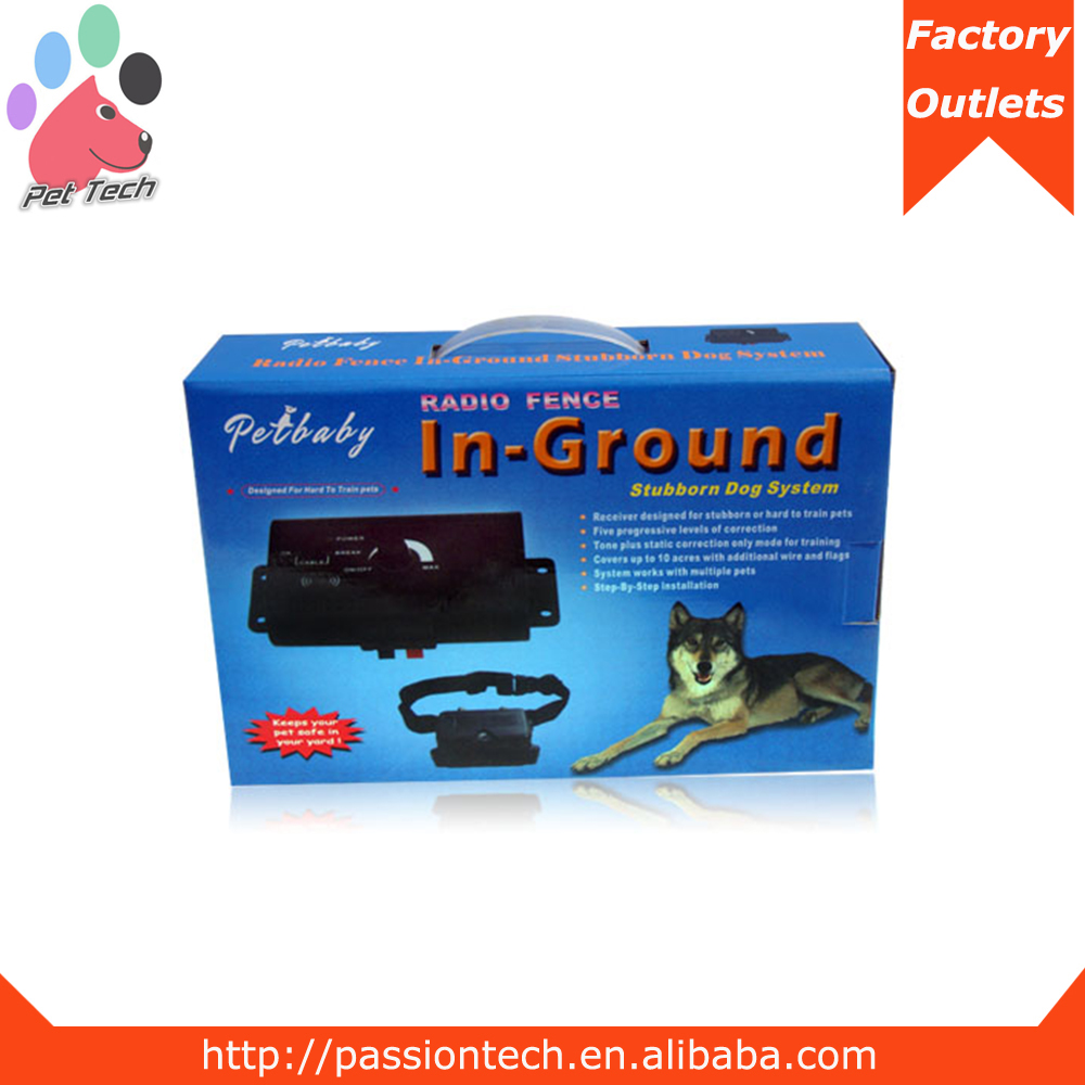 Dog kennel smart simple set up electric fence with wire abruption alarm