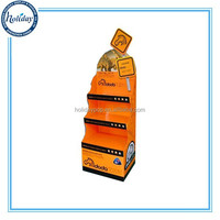 Hot Selling Cosmetic Point Of Sale Display Stand,Free Standing Make Up Cardboard Display Stand