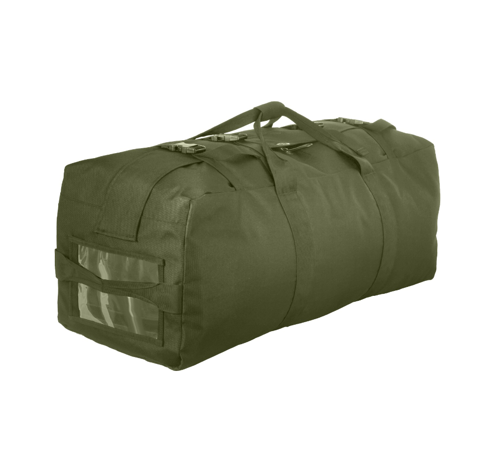 Heavy duty top load canvas military traveling bag duffle bag