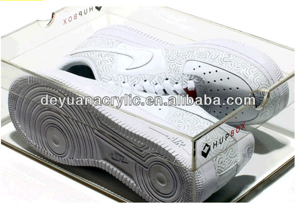 Customers Logo Printing Acrylic Shoes Boxes / Cutomize acrylic Shoes Boxes