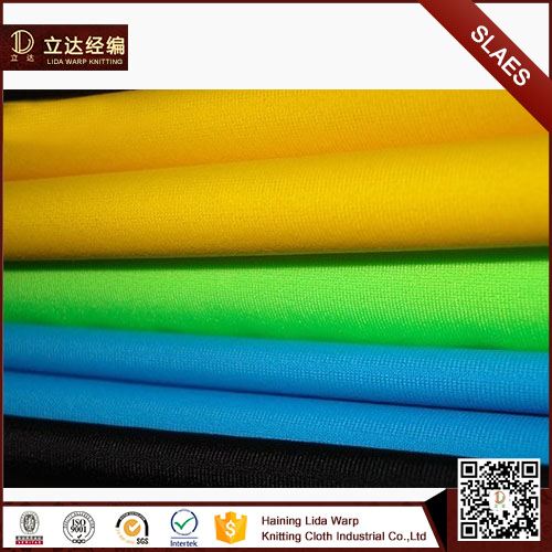 Hot Sale tan through polyester spandex swimwear fabric for sale