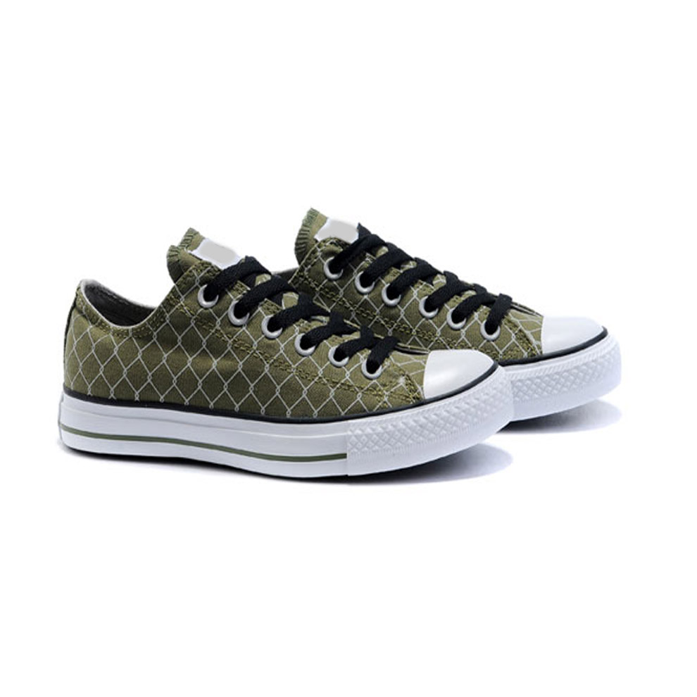 china wholesale green mens shoes canvas with shoe lace
