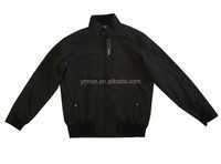 Mens black spring cheap 100% polyester jacket