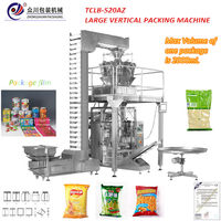 Coal/coffee pod vertical form fill seal packaging machine