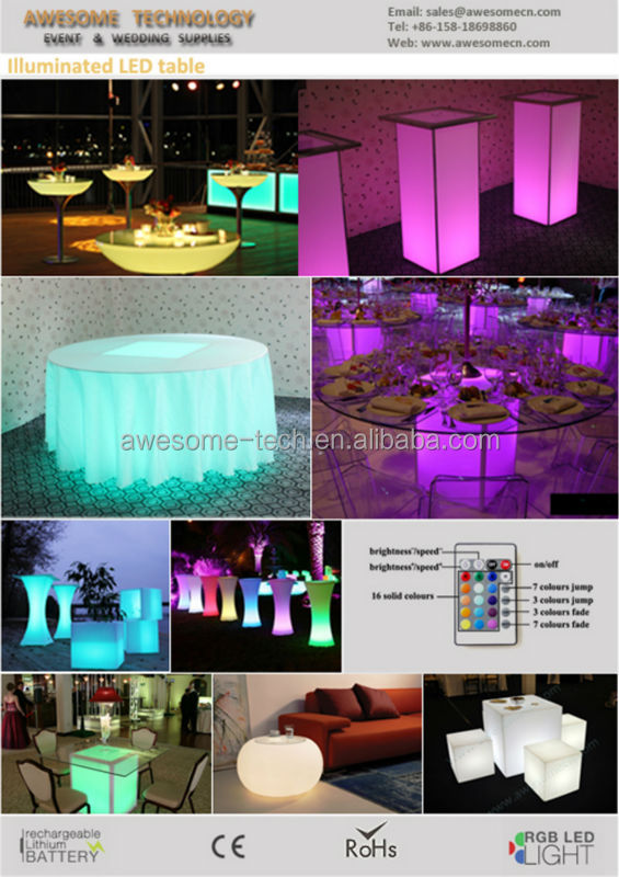 clear acrylic glass dinning table with led lighting for special events buy acrylic dinning. Black Bedroom Furniture Sets. Home Design Ideas