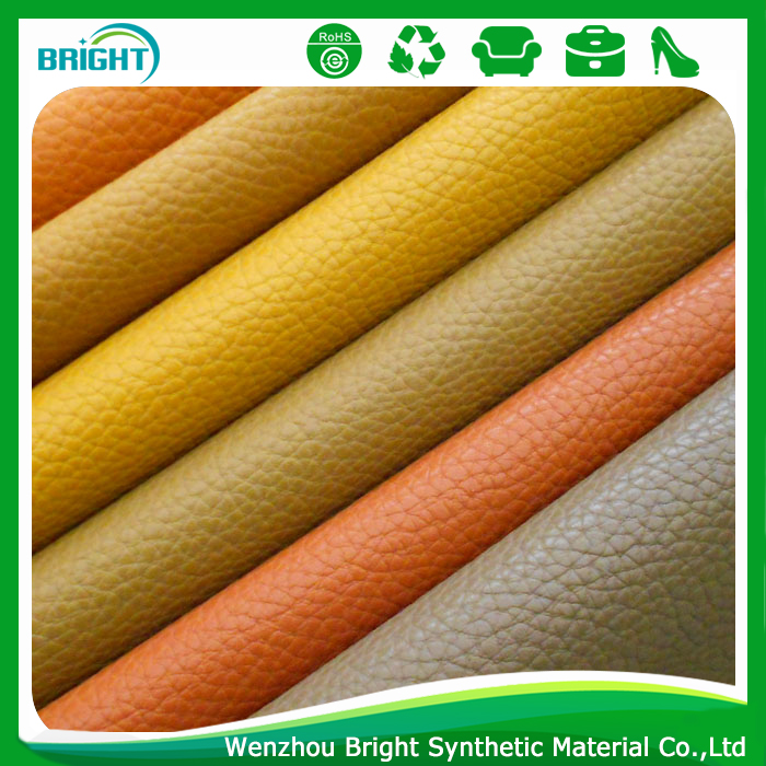 nonwoven backing eco-friendly recycled embossed leather manufacturer