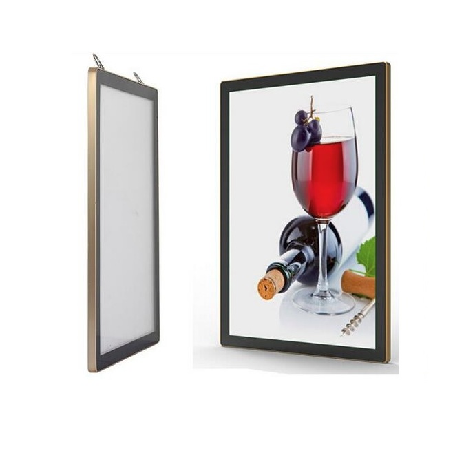 2017 Double Sided White Acrylic Crystal <strong>Light</strong> Box, Wall Mounted Shadow Box Photo Frame, Super <strong>Slim</strong> Advertising Metal <strong>Light</strong> Box