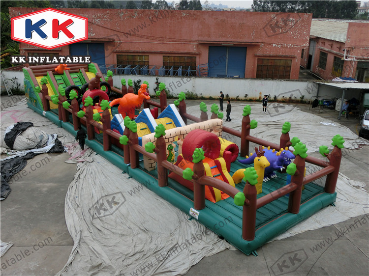 Outdoor large inflatable amusement park with slides fun city children toys for sale