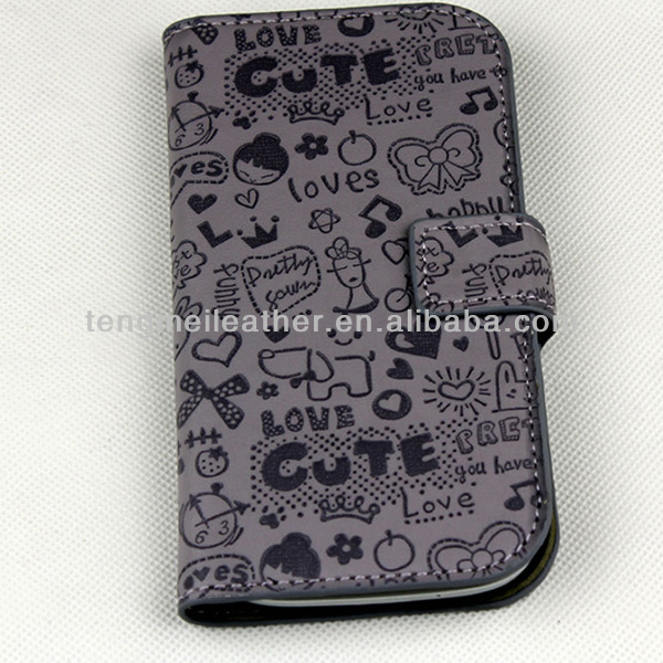 Hello Kitty Case For Samsung Galaxy S3,Cute Faerie Leather UP Wallet Case Skin For Samsung Galaxy S3 SIII i9300