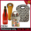 Custom made insulated 2 bottle foldable portable wine carrier