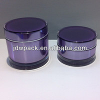 skin care cream use and acrylic material cosmetic jar empty cosmetic container