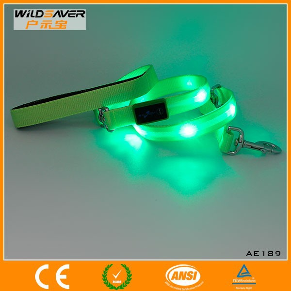 Nylon waterproof led dog leads with dog shop products