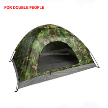 Green Camo double monolayer tent waterproof camping tent for 2 people for outdoor hiking,hunting