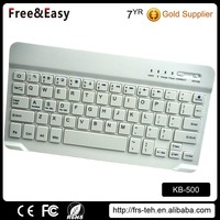 Bluetooth wireless keyboard with leather case