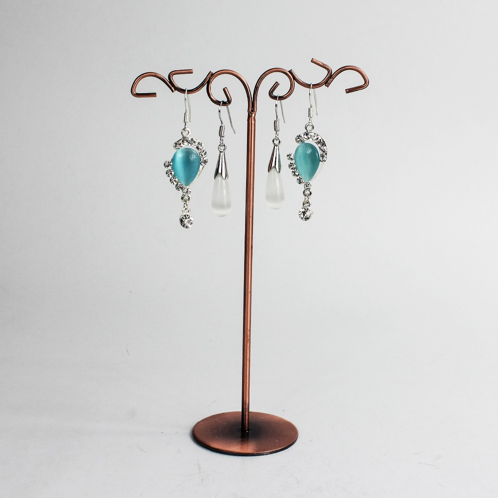 Custom factory jewelry display sets for pendants and earrings metal jewelry display stand