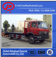 Dongfeng 153 flat bed machine equipment excavator transport truck 15 ton (JDF5160TPBE flat bed truck )