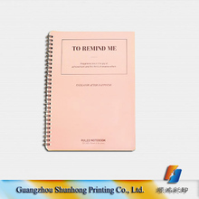 China supplier factory price custom colorful spiral notebook