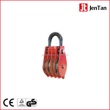 Heavy Duty Lifting Device Small Rings Closed Chain Four Wheels Pulley