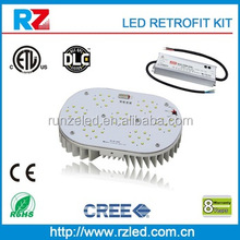 320-400W 347V led retrofit kits patent DLC ETL APPROVED meanwell driver cre led street light 120W led retrofit kits