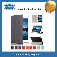 Ultra Slim Lightweight Stand cover smart shell case for ipad mini 4 leather case with Auto Sleep/Wake Feature