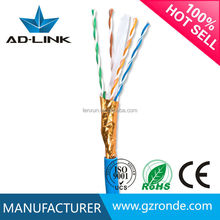 China Manufacturer Newly PE Jacket 4PR cat6 Computer Cable FTP 24AWG In Guangzhou/Shenzhen