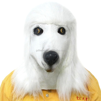 poodle full head mask/ rubber latex mask/halloween costume party mask