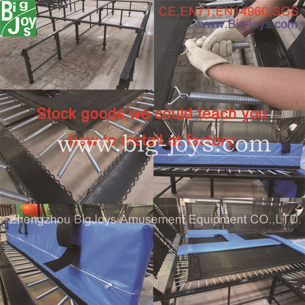 High Jump large Rectangular Customized Amusement park Indoor Jumping trampoline with foam pit