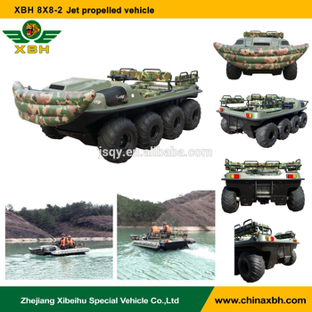 XBH 8X8-2A Jet propelled vehicle Floating water Amphibious ATV Crossing river car