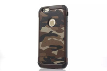 2016 China supplier high quality Army Colors Camouflage Hybrid PC TPU mobile phone Cover Back Armor Case For iphone 6 plus 5s