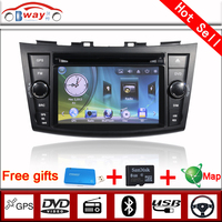Bway 2 din car radio for Suzuki Swift 2011-2012 car dvd gps 256 MB RAM with car Radio bluetooth,steering wheel