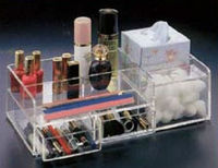 acrylic make up organizer with drawer