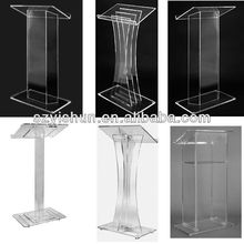 Customized acrylic lectern clear acrylic podiums