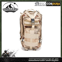 waterproof military tan nylon backpack tactical military backpack with backpack secret pocket